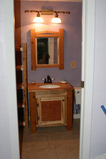Bath vanity and mirror