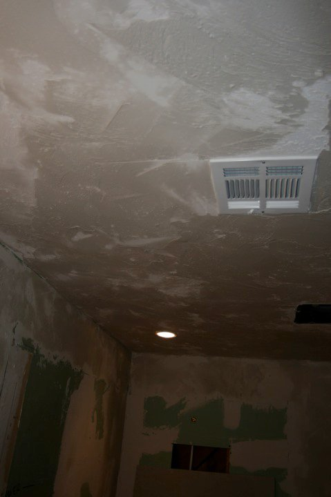 Ceiling texture and new shower light
