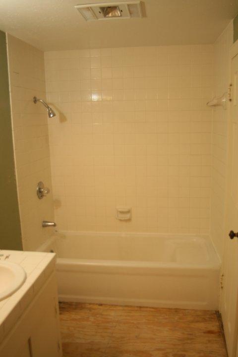 Original tub in place