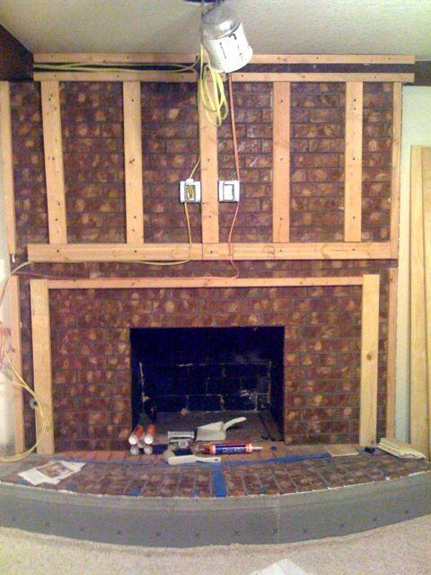 Fireplace Upgrade Rambling Road Designs Renovation Custom Furniture More
