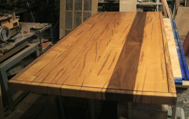Ambrosia Maple Amp Walnut Table Top Rambling Road Designs